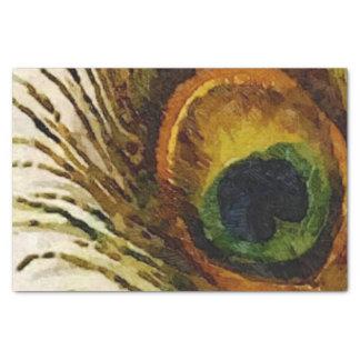 ヴィンテージの孔雀の羽 薄葉紙