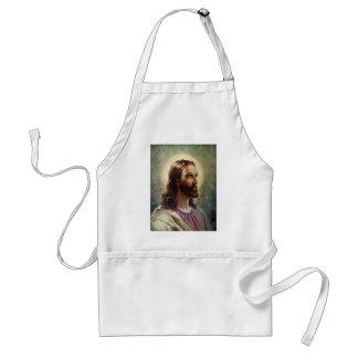 ヴィンテージの宗教ポートレート、ハローのイエス・キリスト スタンダードエプロン