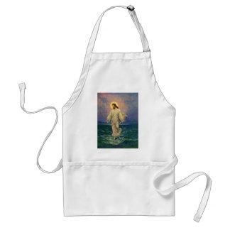 ヴィンテージの宗教、イエス・キリストは水に歩いています スタンダードエプロン