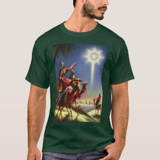 ヴィンテージの宗教、ベスレヘムの星を持つ賢者 Tシャツ
