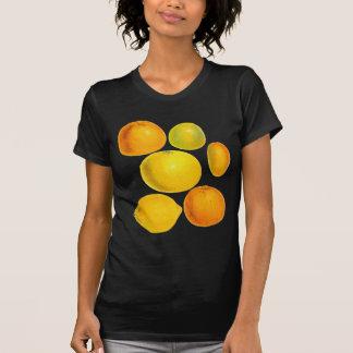 ヴィンテージの家宝の柑橘類のオレンジレモンイラストレーション Tシャツ