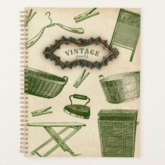 ヴィンテージの家庭用品のプランナーのハンガーの洗濯板 プランナー手帳