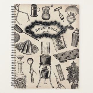 ヴィンテージの家庭用品のプランナー プランナー手帳