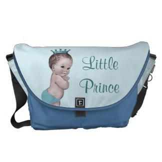 ヴィンテージの小さい王子空色のおむつのバッグ メッセンジャーバッグ