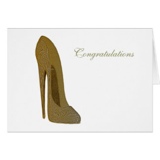 ヴィンテージの小剣のハイヒールの靴の芸術のギフト グリーティングカード