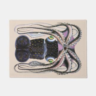 ヴィンテージの巨大なタコかイカの海洋生物動物 ドアマット