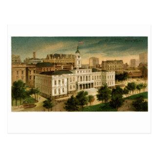 ヴィンテージの市役所ニューヨーク ポストカード