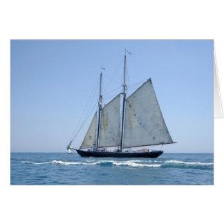 ヴィンテージの帆ボートカード カード