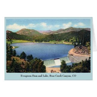 ヴィンテージの常緑のダムおよび湖のくまの入り江渓谷 カード