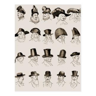 ヴィンテージの帽子 ポストカード