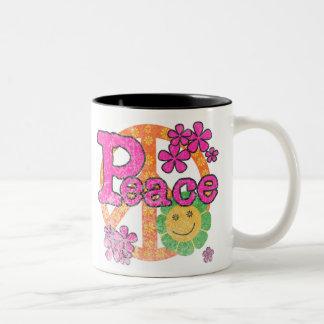 ヴィンテージの平和 ツートーンマグカップ