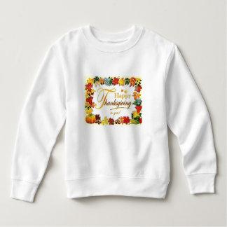 ヴィンテージの幸せな感謝祭のカラフルの葉 スウェットシャツ