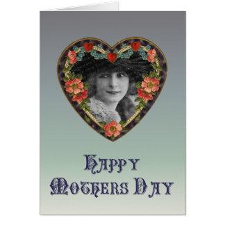 ヴィンテージの幸せな母の日カード カード