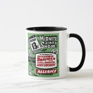 ヴィンテージの幽霊ショーポスター芸術- Midniteのジンクスショー! マグカップ