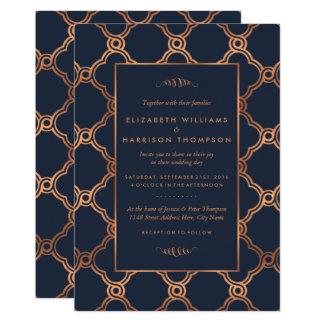 ヴィンテージの幾何学的なアールデコのGatsbyの結婚式 カード