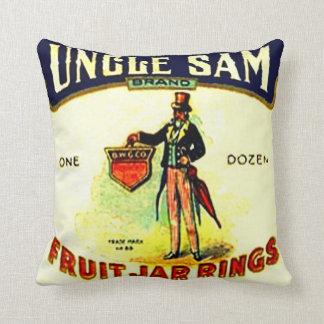 ヴィンテージの広告の米国市民農場の家の缶詰のフルーツの瓶 クッション