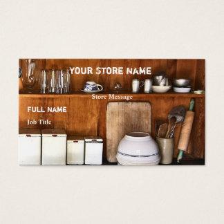 ヴィンテージの店は/店の名刺を焼きます 名刺