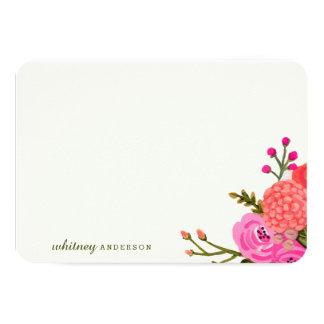 ヴィンテージの庭の名前入りな文房具 8.9 X 12.7 インビテーションカード