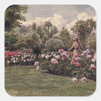 ヴィンテージの庭の芸術-マーティンのトマスの芝刈り機 スクエアシール