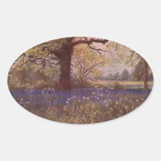 ヴィンテージの庭の芸術-マーティンのトマスの芝刈り機 楕円形シール