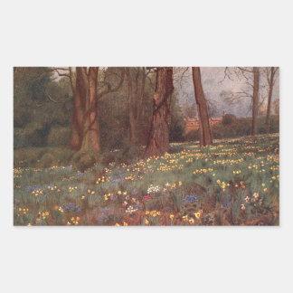 ヴィンテージの庭の芸術-マーティンのトマスの芝刈り機 長方形シール