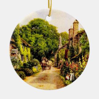 ヴィンテージの庭の芸術- Quinton、アルフレッド セラミックオーナメント