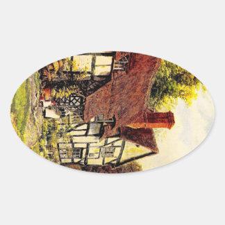 ヴィンテージの庭の芸術- Quinton、アルフレッド 楕円形シール