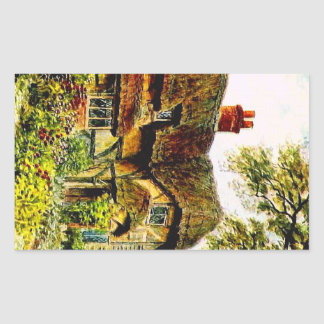 ヴィンテージの庭の芸術- Quinton、アルフレッド 長方形シール