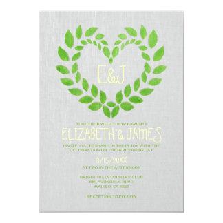 ヴィンテージの庭園の結婚式の招待状 カード