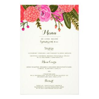 ヴィンテージの庭園の結婚式夕食メニュー 14CM X 21.6CM チラシ