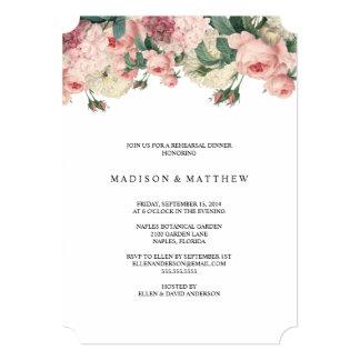 ヴィンテージの庭|のリハーサルの夕食の招待状 カード