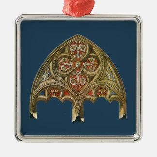 ヴィンテージの建築要素、装飾的なアーチ シルバーカラー正方形オーナメント