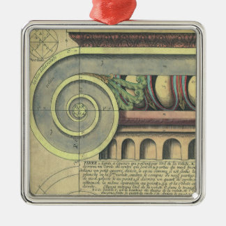 ヴィンテージの建築; Vignola著重要な渦巻形 シルバーカラー正方形オーナメント