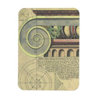 ヴィンテージの建築; Vignola著重要な渦巻形 マグネット
