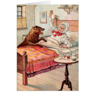 ヴィンテージの引くこと: 祖母およびオオカミ カード