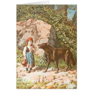 ヴィンテージの引くこと: 赤い乗馬フードおよびオオカミ カード