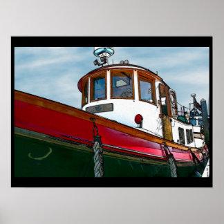 ヴィンテージの引っ張りのボートポスター ポスター