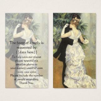 ヴィンテージの応答カード、ルノアール著都市ダンス 名刺