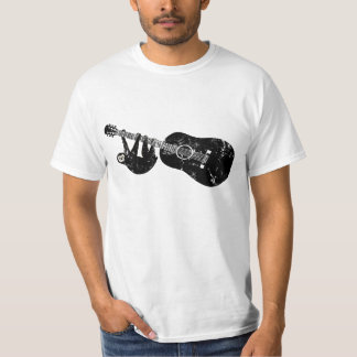 ヴィンテージの怠惰のギターのティー Tシャツ