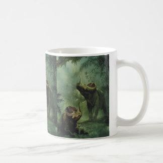 ヴィンテージの恐竜、ジャングルのセントロサウルス コーヒーマグカップ