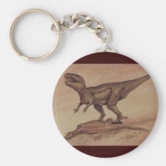 ヴィンテージの恐竜、肉食獣のギガノトサウルス キーホルダー