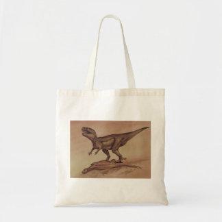 ヴィンテージの恐竜、肉食獣のギガノトサウルス トートバッグ