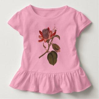 ヴィンテージの情熱の花 トドラーTシャツ