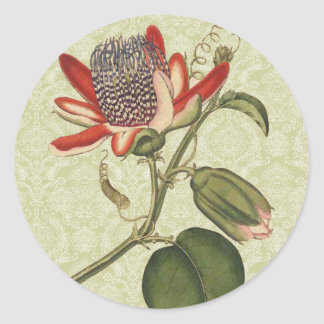 ヴィンテージの情熱の花 ラウンドシール