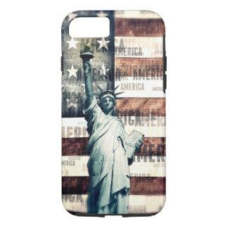ヴィンテージの愛国心が強いアメリカの自由 iPhone 8/7ケース