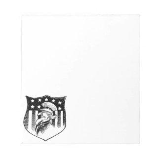 ヴィンテージの愛国心が強い米国政府および米国旗 ノートパッド