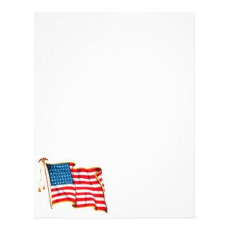ヴィンテージの愛国心が強い米国旗、7月4日 チラシ