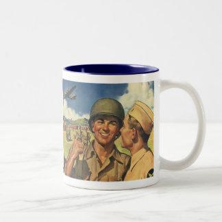 ヴィンテージの愛国心が強い英雄は、軍人平になります ツートーンマグカップ