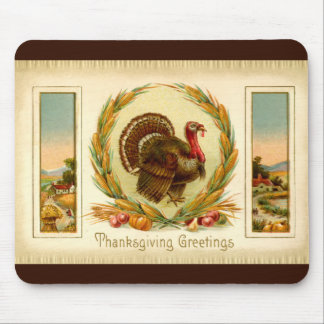 ヴィンテージの感謝祭のトルコのマウスパッド マウスパッド