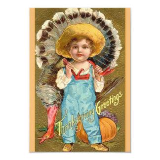 ヴィンテージの感謝祭の夕食の招待状 8.9 X 12.7 インビテーションカード